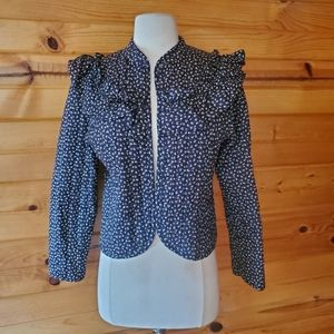1980s 3's Company California Floral Quilted Blazer